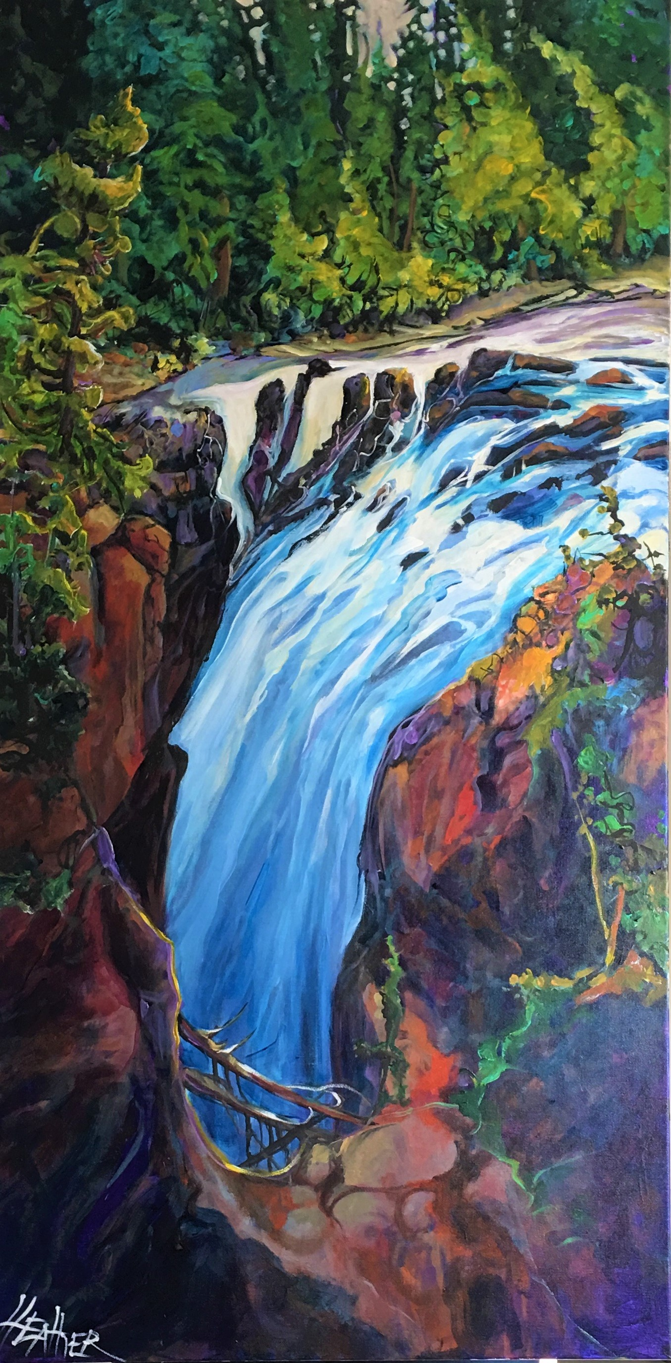 Top of the Falls 24 x 48 $3100