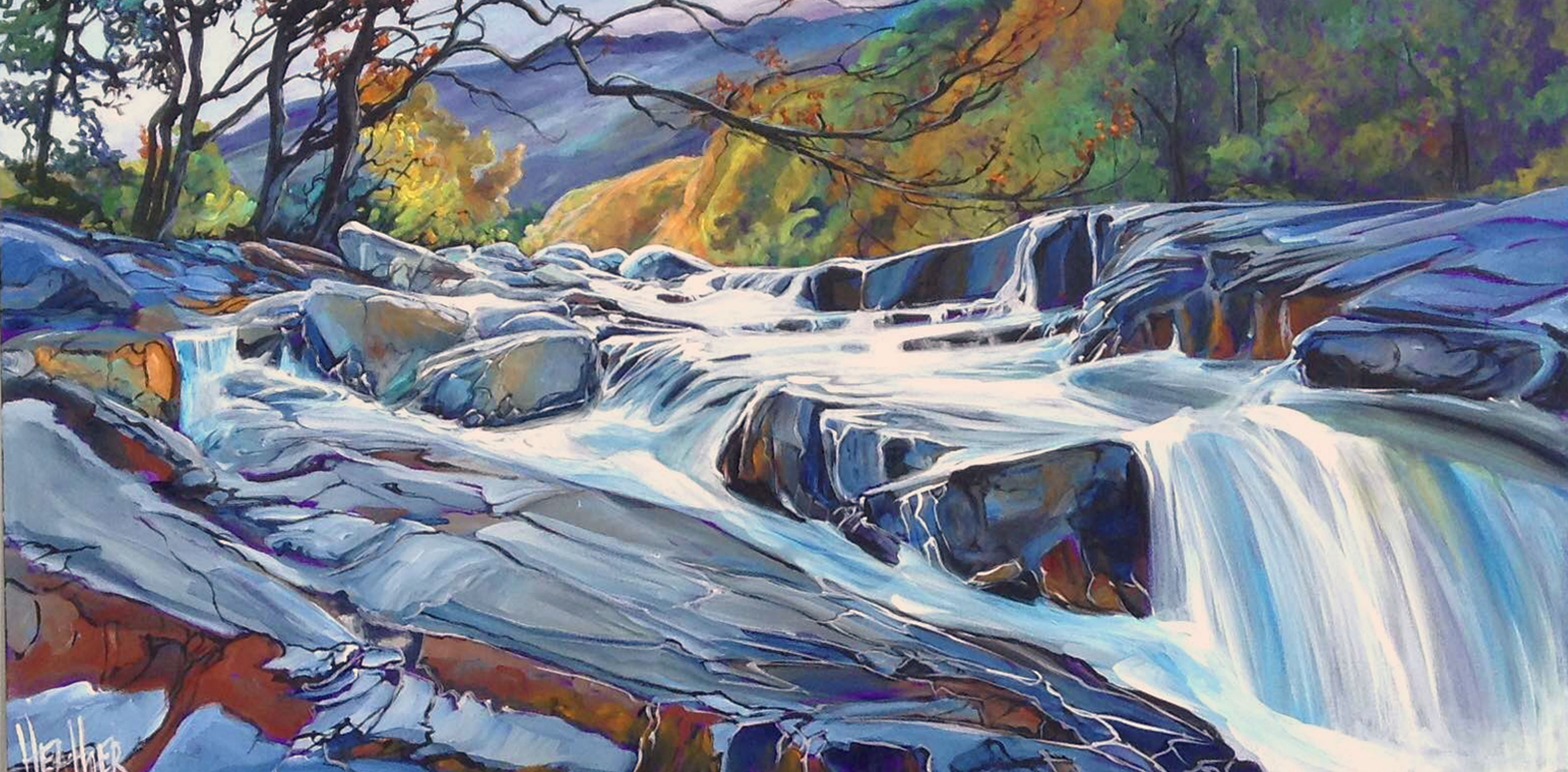 Kananaskis Torrent 24 x 48...SOLD