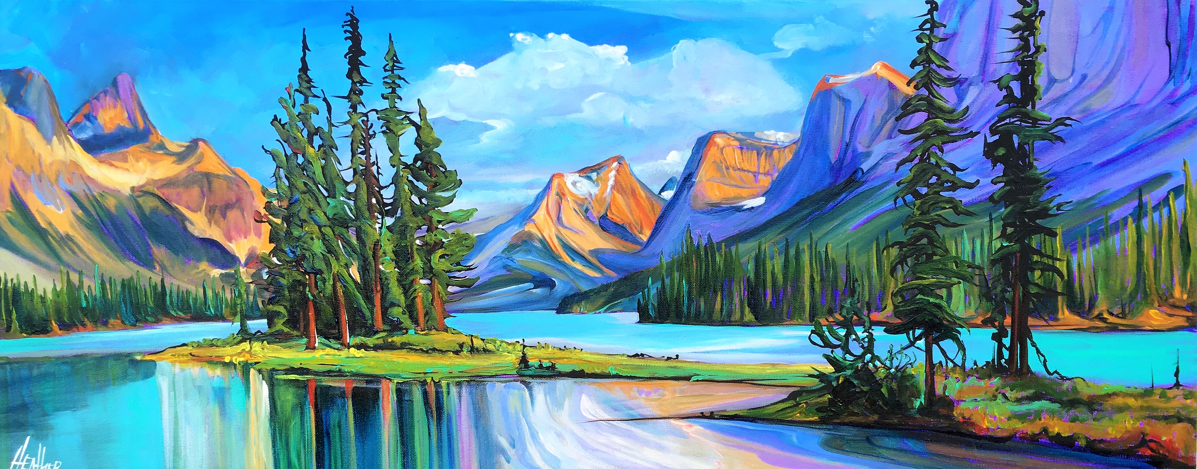 Embracing the Spirit 16 x 40 SOLD
