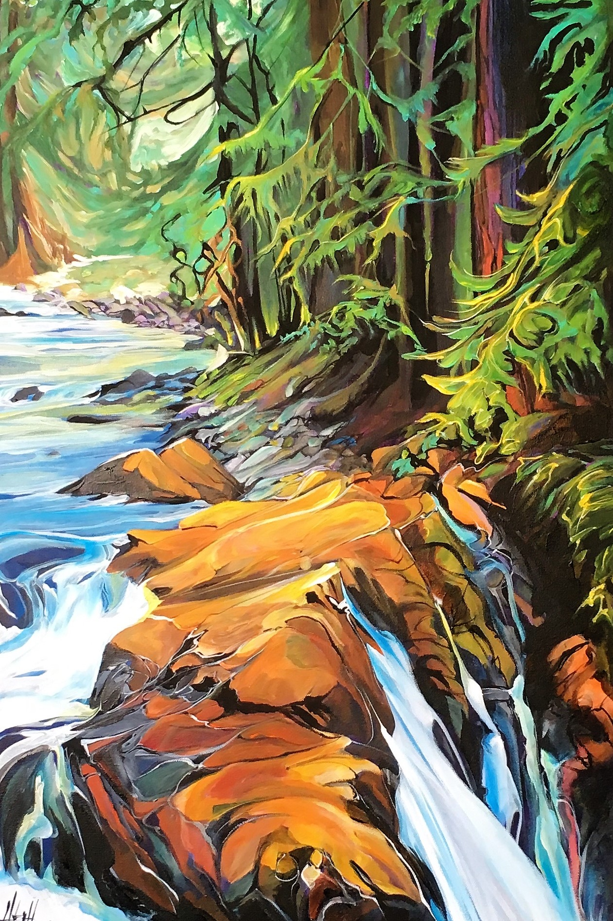 Gold Creek 24 x 36 SOLD