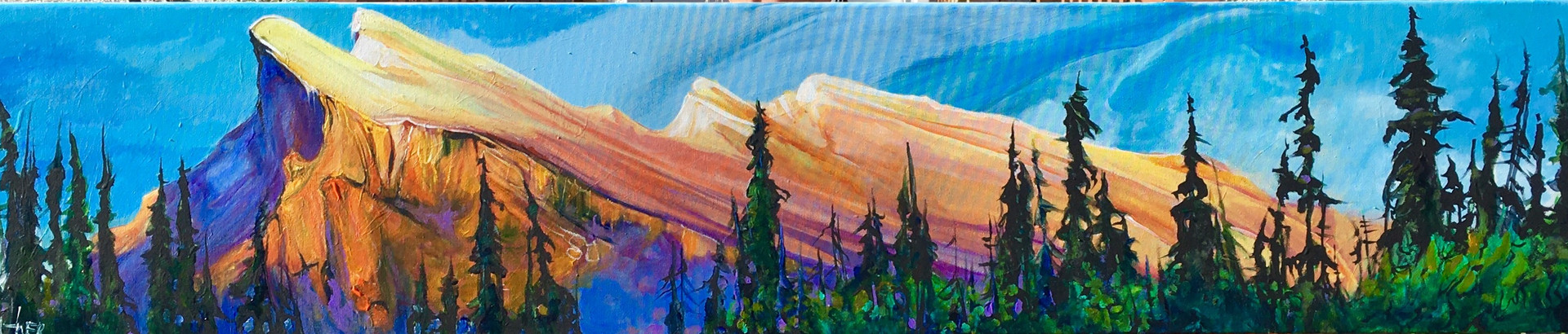 Mount Rundle Living on the Edge 12 x 60 SOLD