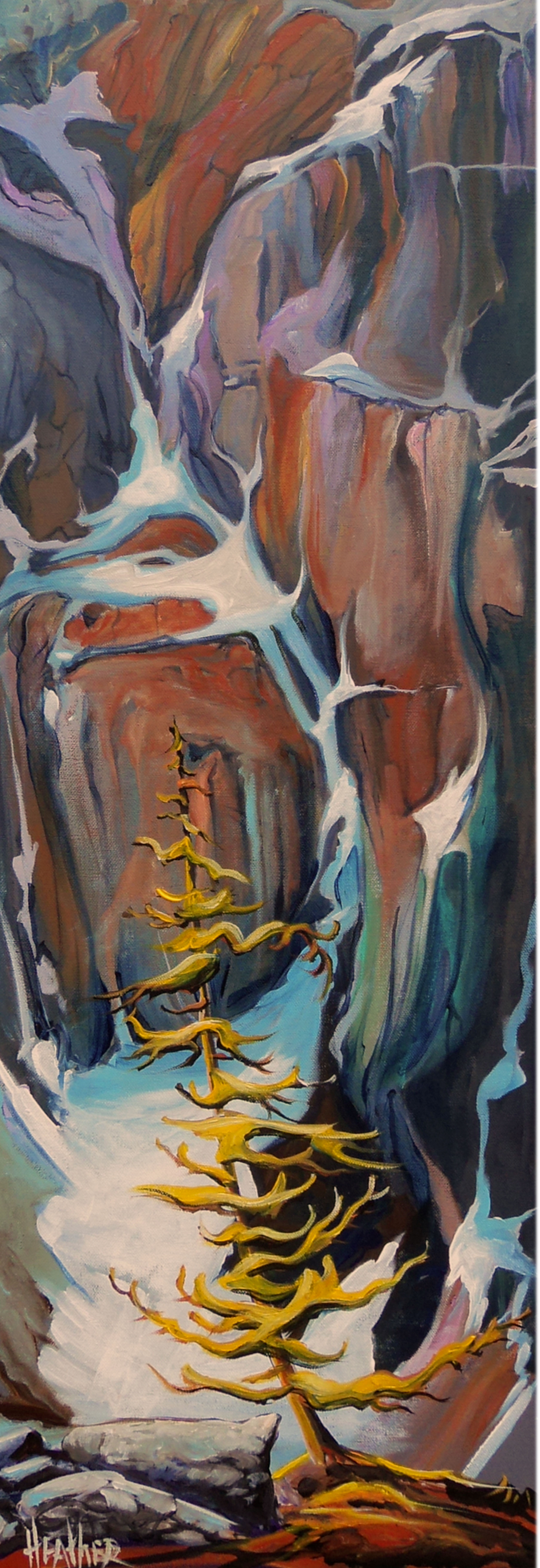 Tenacious Larch 12 x 36...SOLD