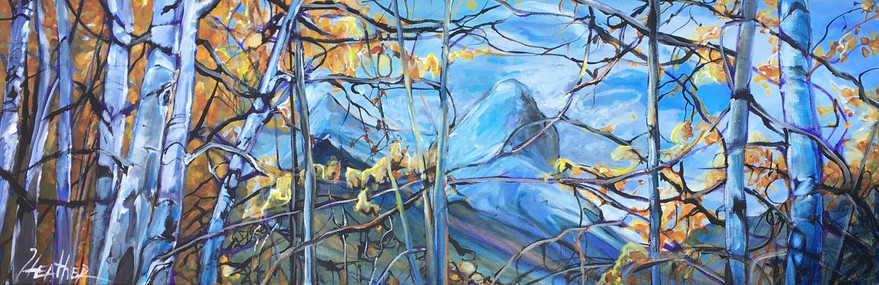 Ha Ling through the Trees 12 x 36 $1500