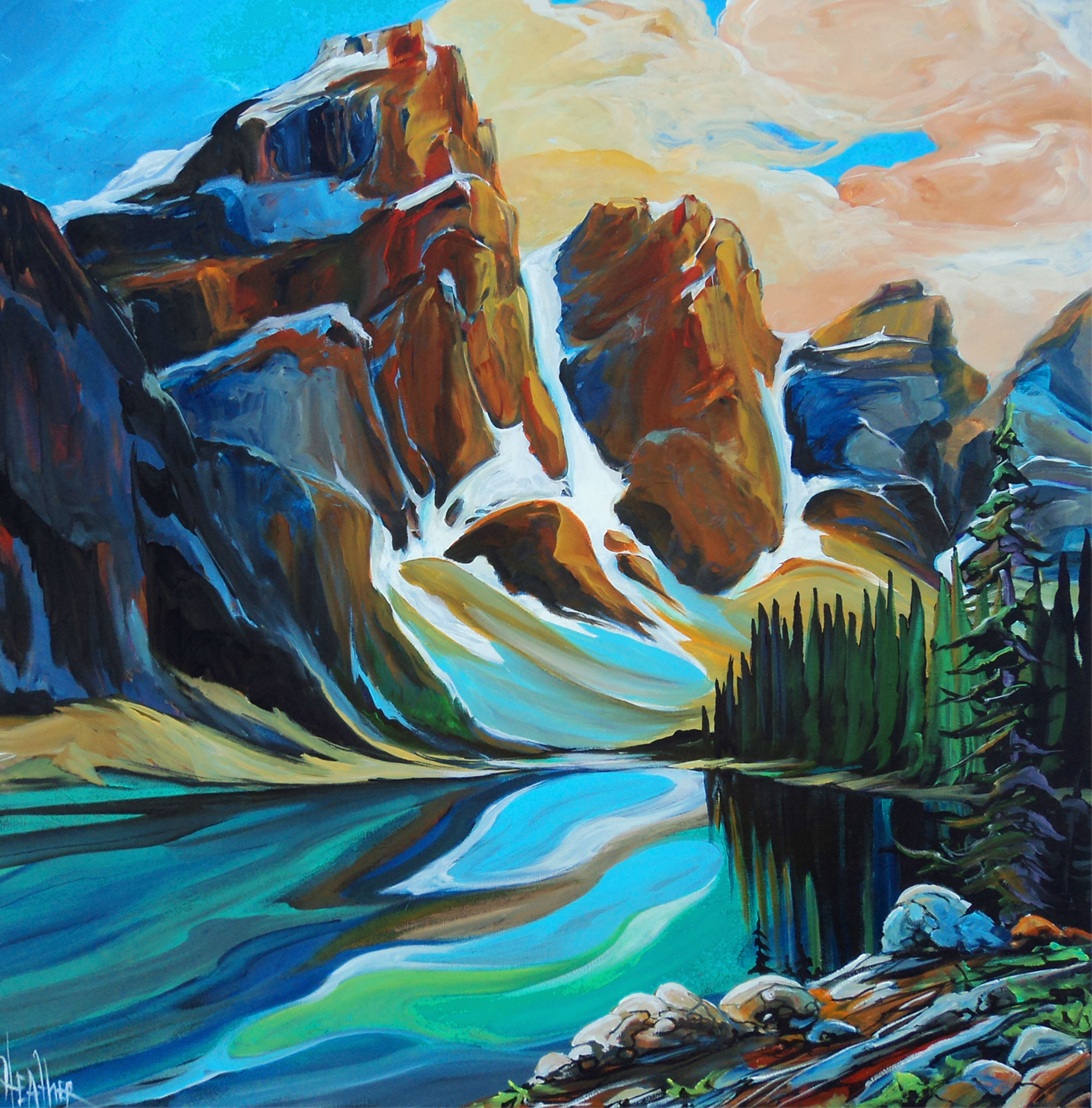 Spectacular Moraine Lake 36x36..SOLD