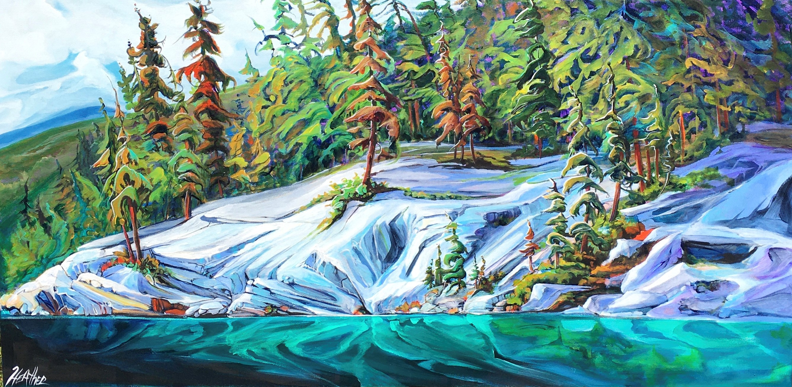 Symphony on the Lake Jasper 24 x 48 SOLD