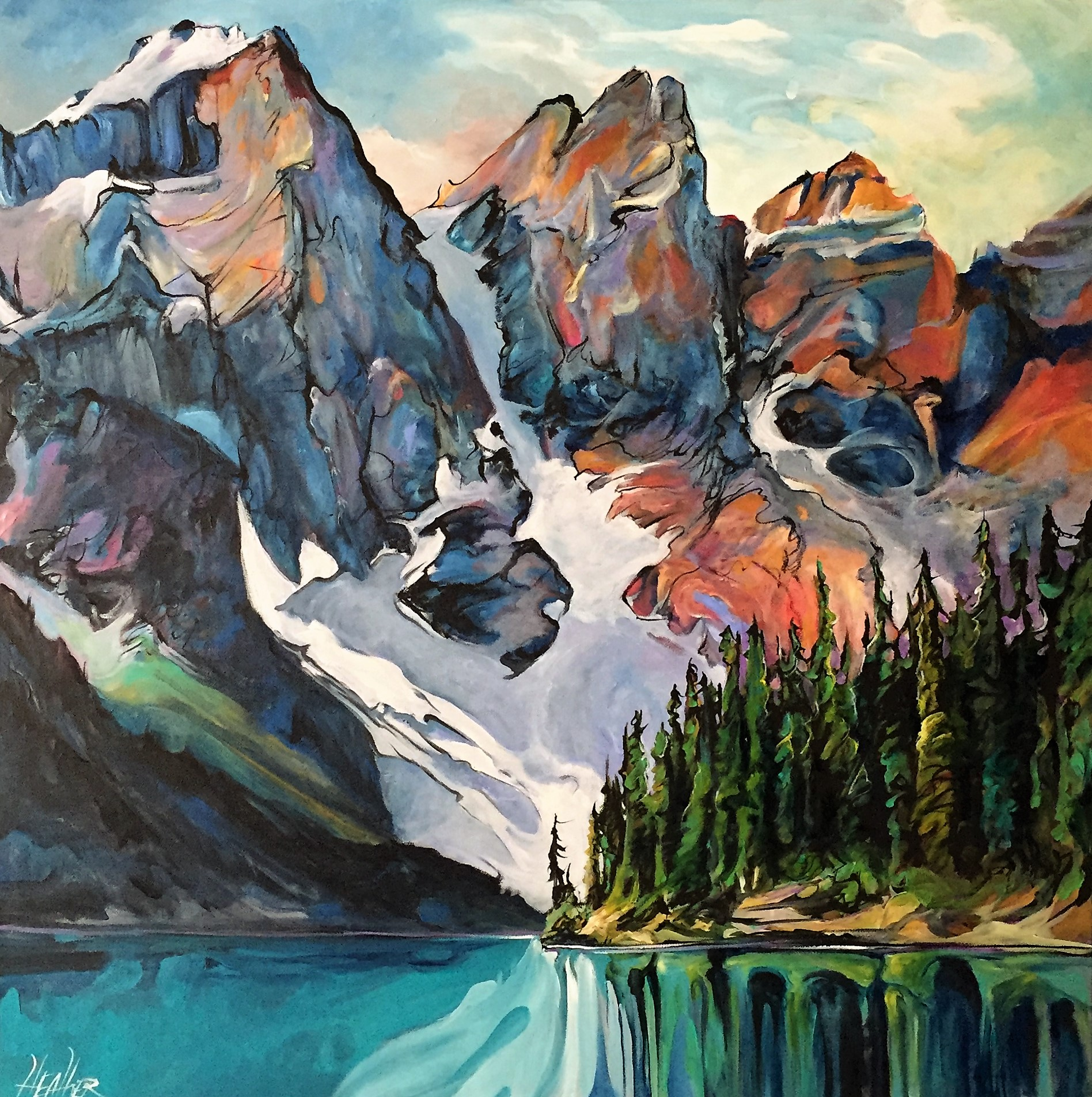 Shadow Dance Moraine Lake 36x36 SOLD