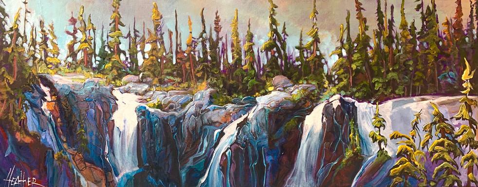 Tangle Top Tangle Falls 16 x 40 $2100