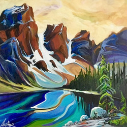 Tranquility of Moraine Lake 24 x 24