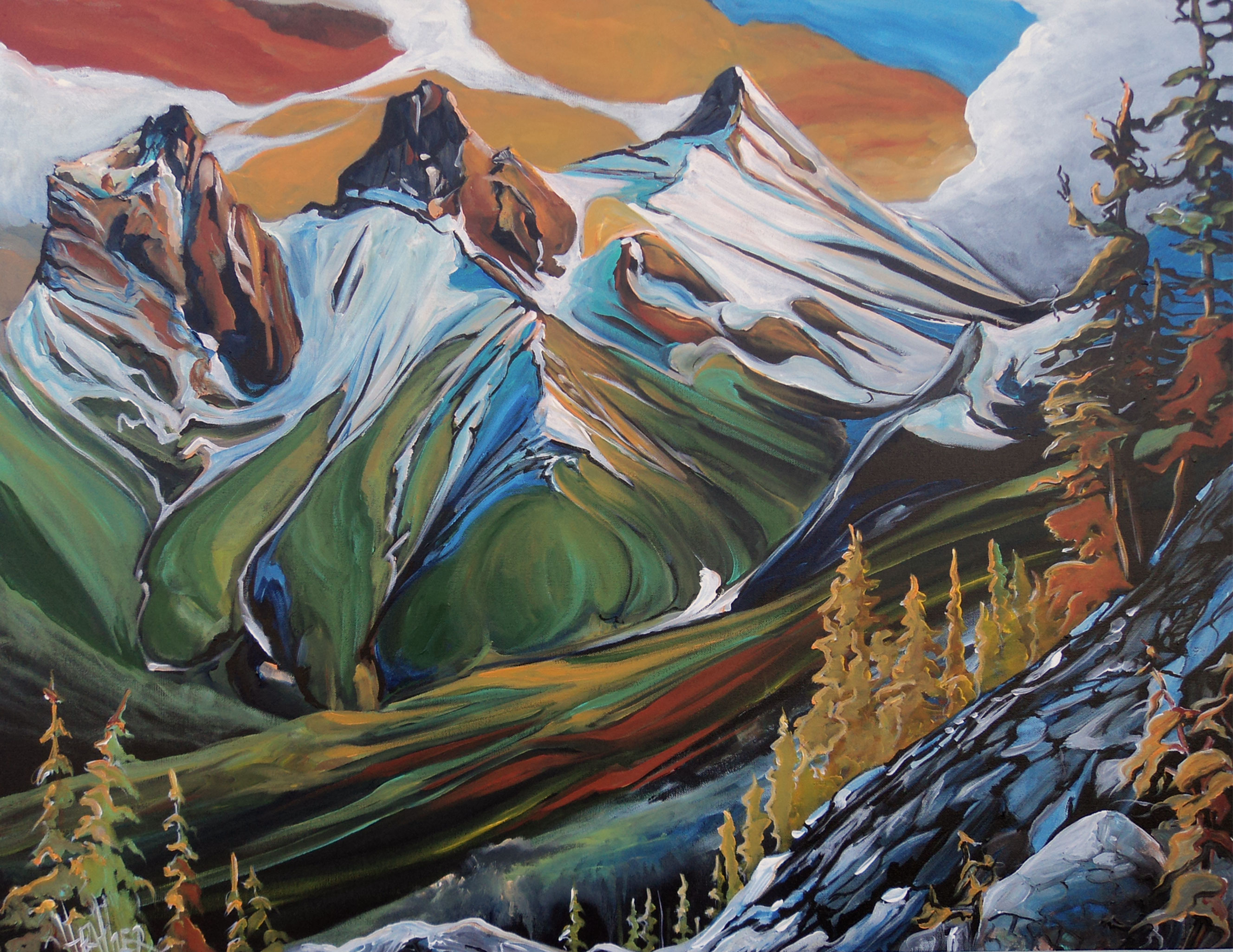 Valley of the Three Sisters...SOLD