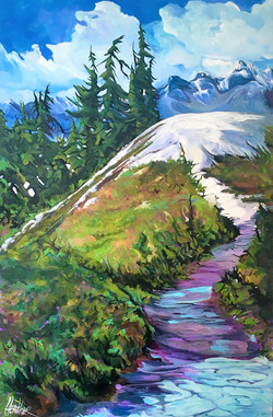 Over the Hill  24 x 36 $2400
