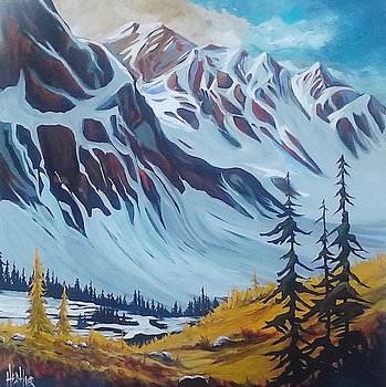 Spray Lakes Clearing 36 x 36 SOLD
