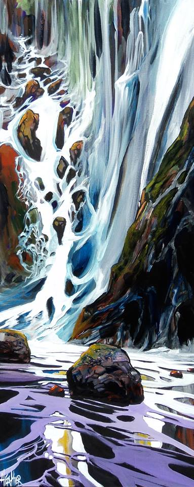 Hidden Falls Sooke 16 x 40 SOLD