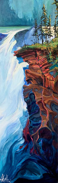 Athabasca Glow 12 x 36 $1500