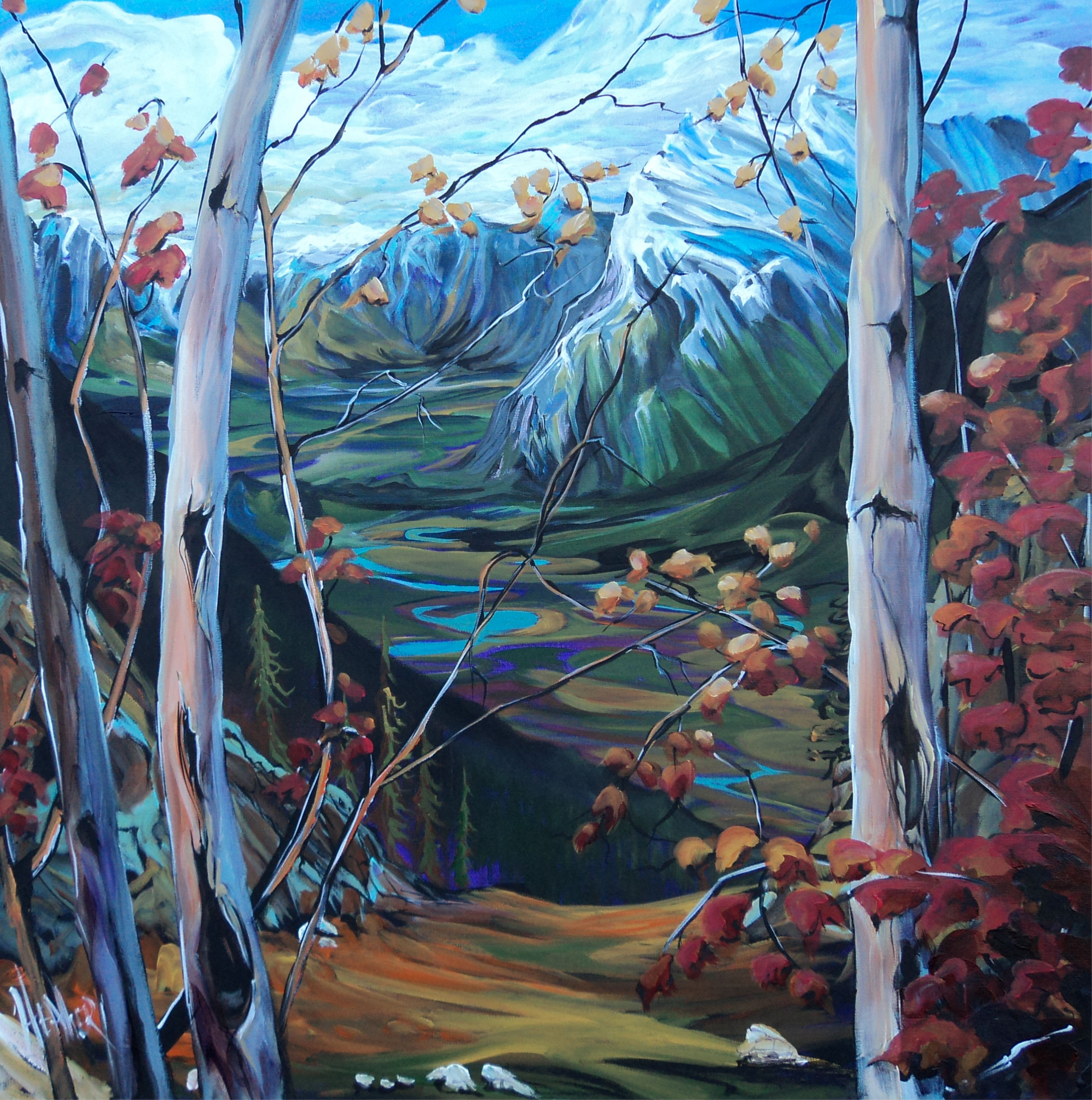 View from Mt. Cory 36 x 36 SOLD