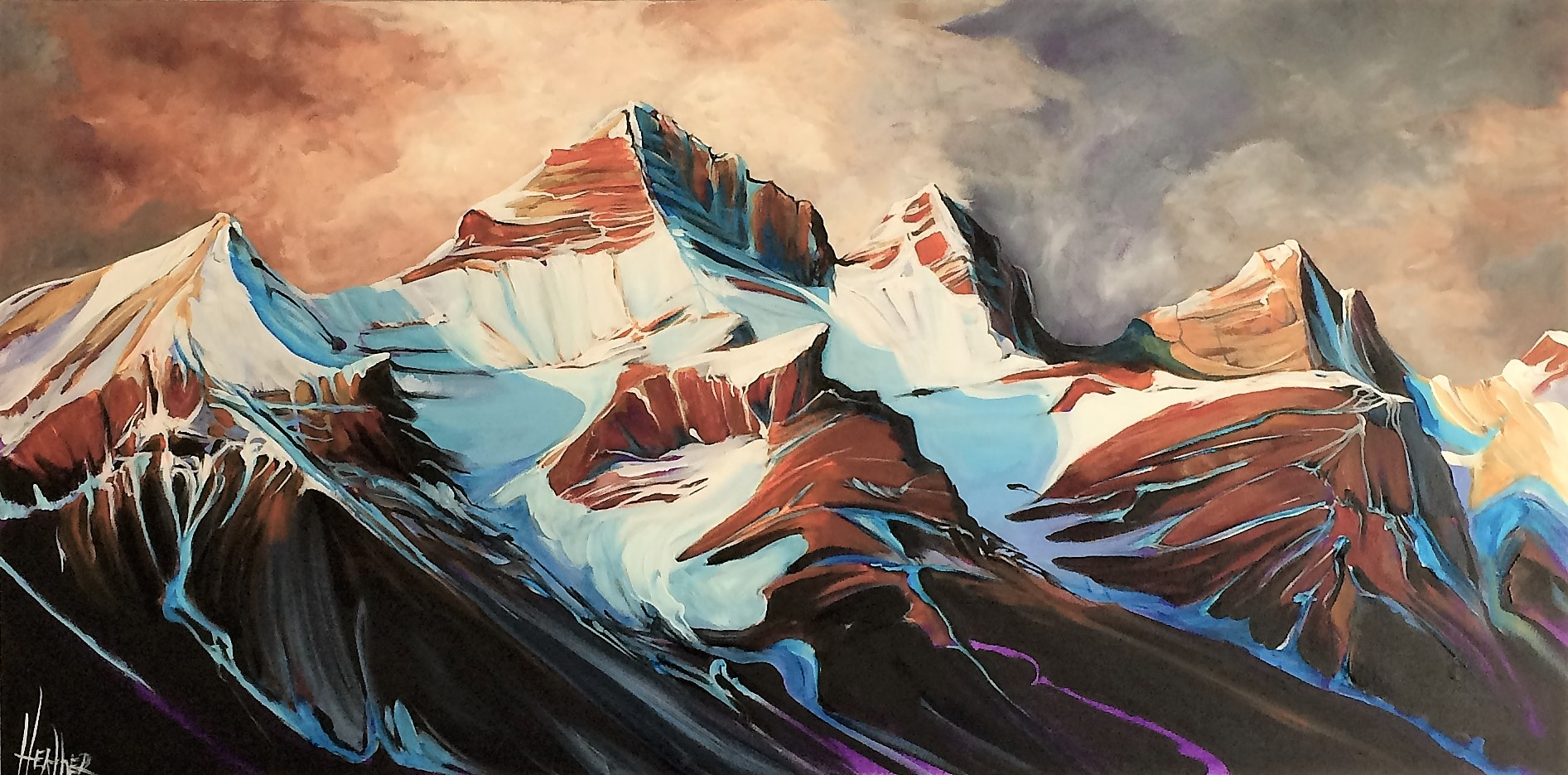 Banff Thunder 24 x 48 SOLD