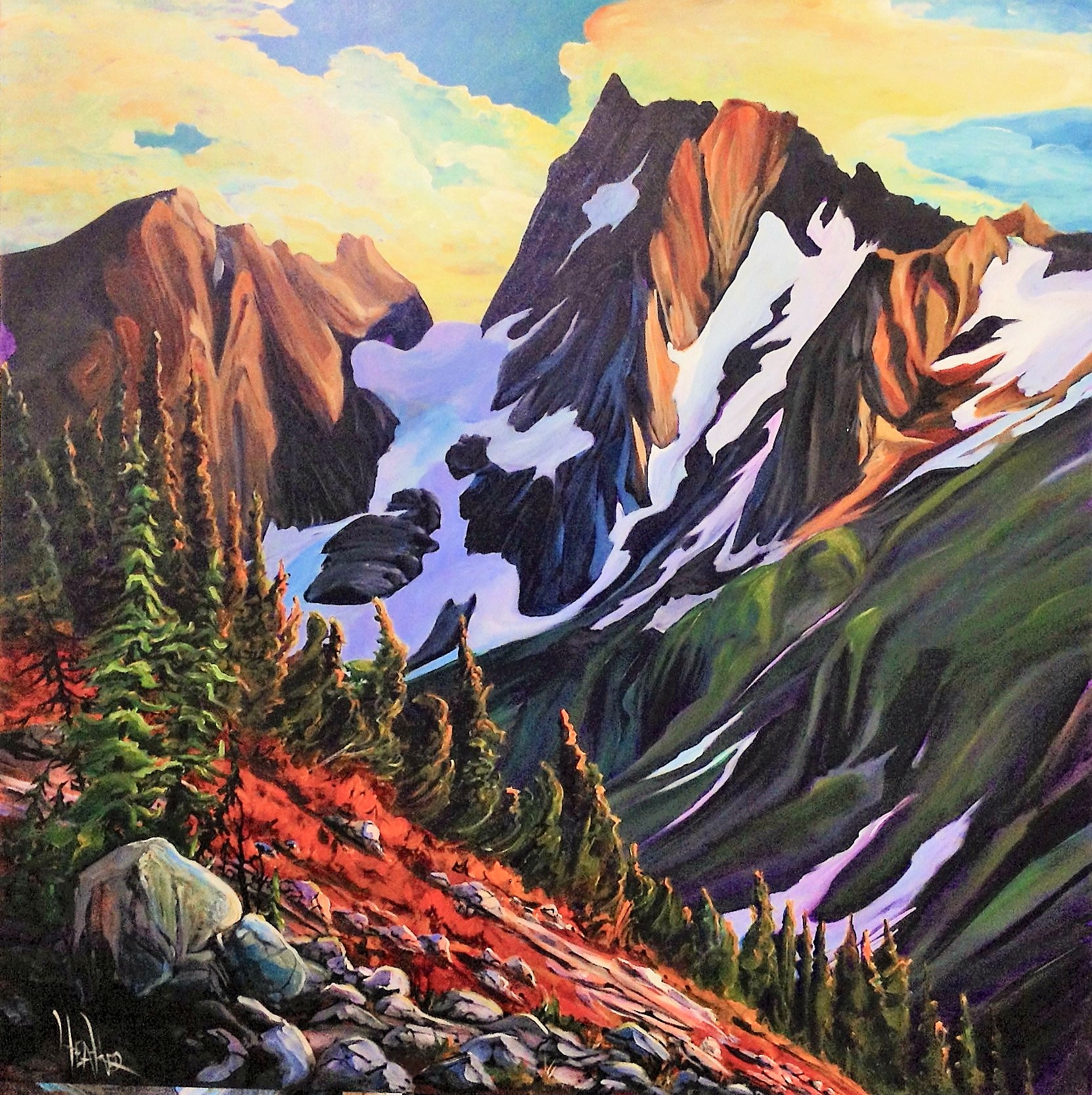Cascade Meadow 48 x 48