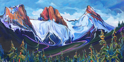 Serenade of the Sisters 24 x 48 SOLD