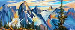 Selkirk Mountains Music 16x40..SOLD