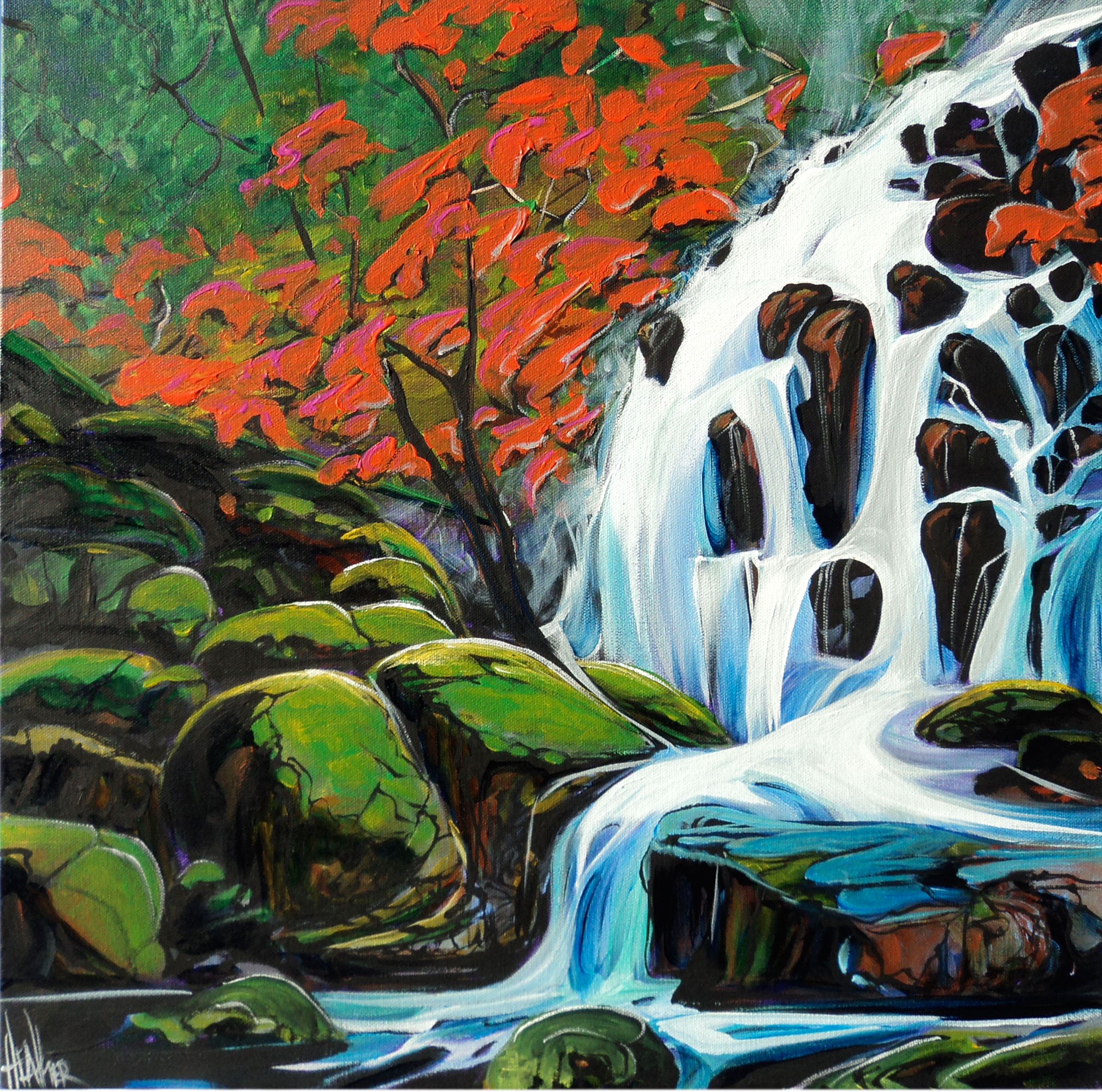 MidSummer Falls 20 x 20 ...SOLD