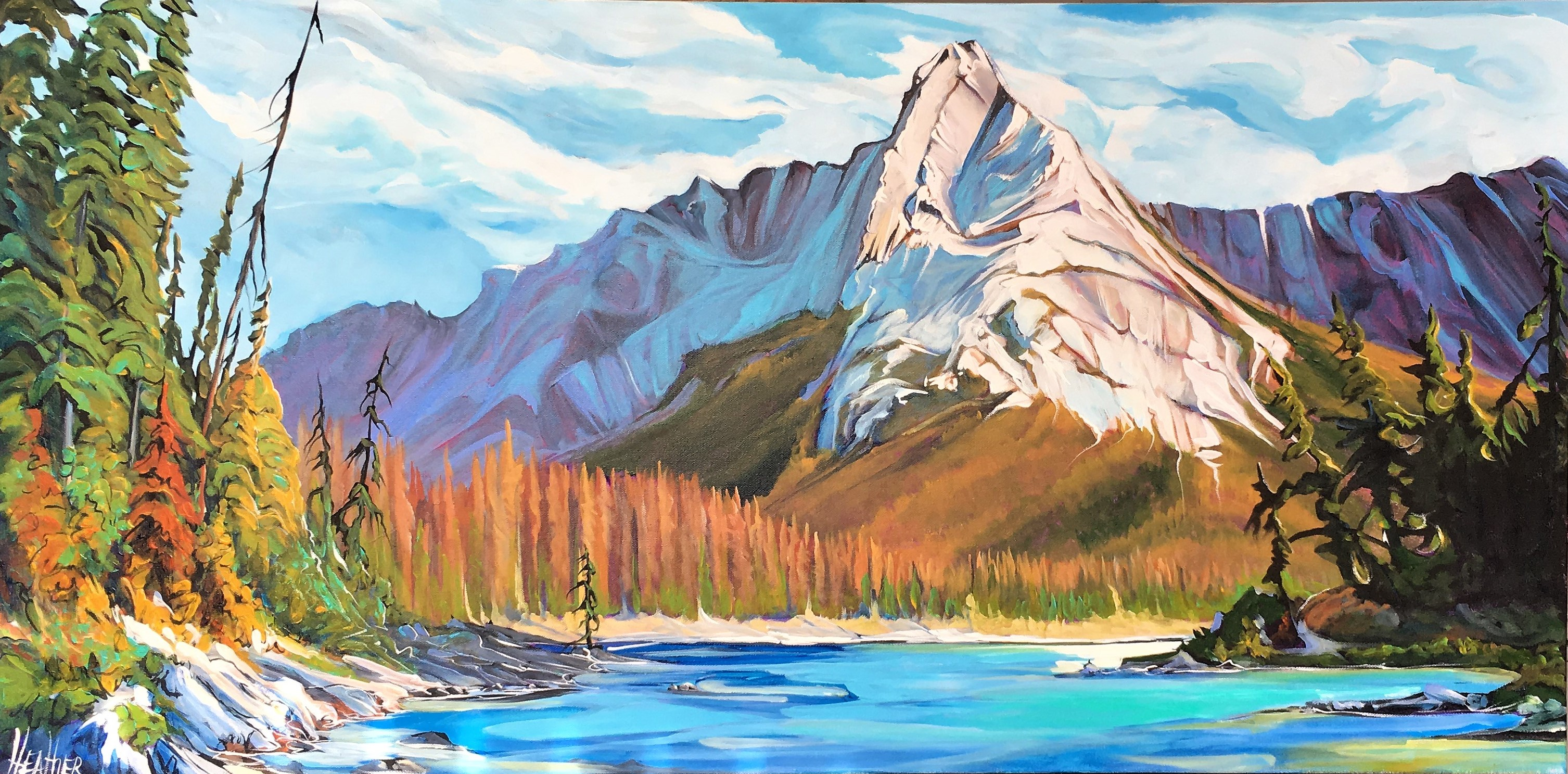 Kananaskis Sun Struck 24 x 48 SOLD