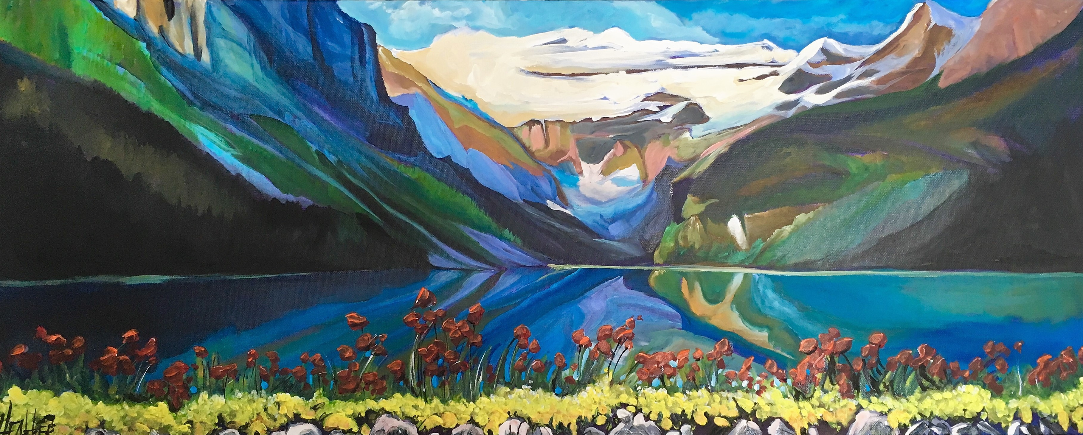 Romance at Lake Louise 16 x 40 SOLD