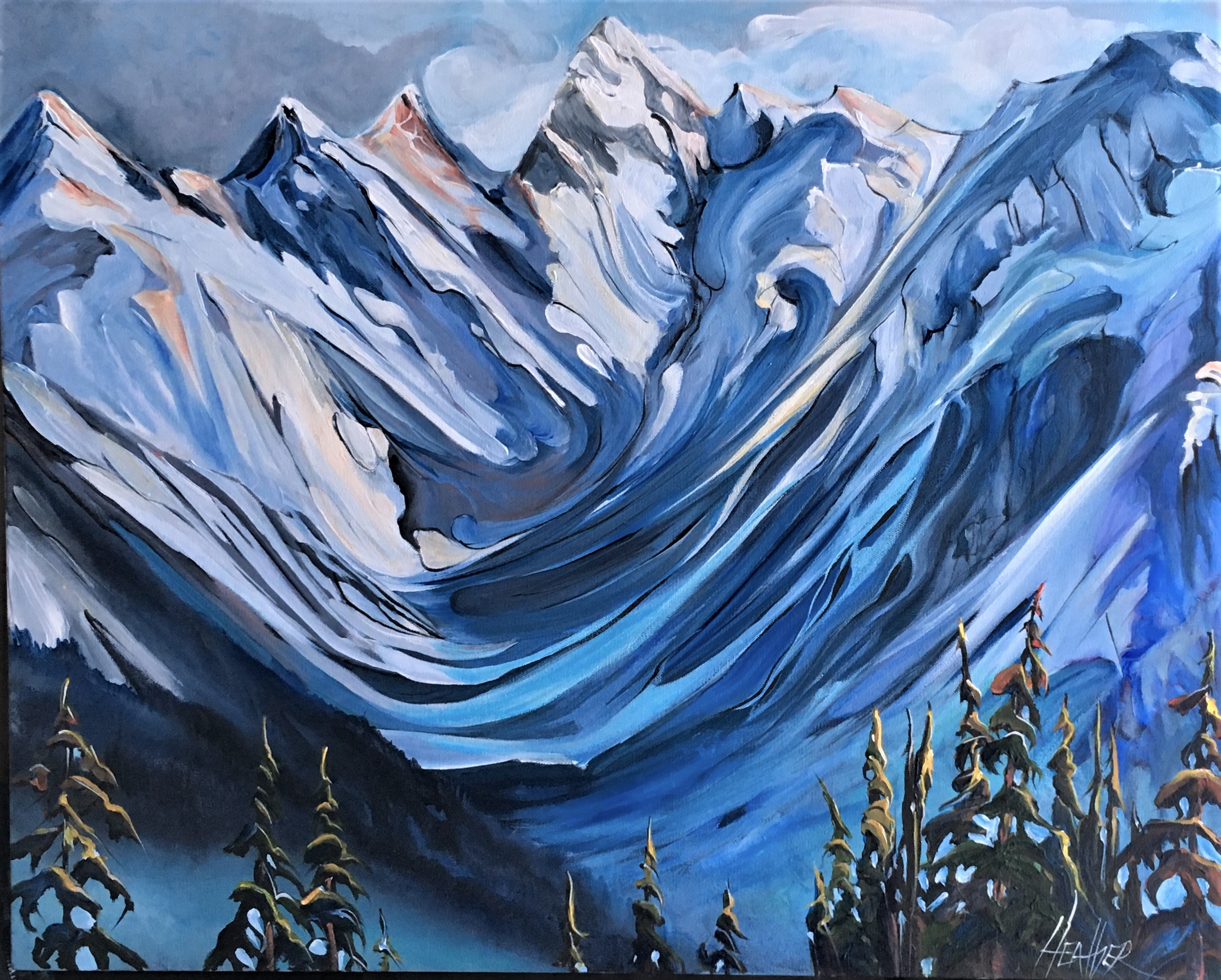 20 Below Rogers Pass 24 x 30 SOLD