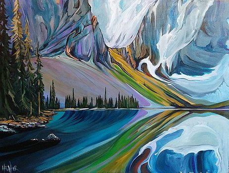 Rawson Lake Surreal 30 x 40 SOLD