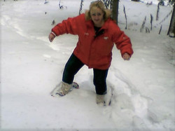 Heather Snowshoeing