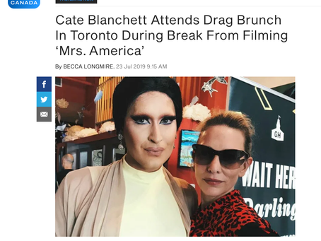 ET Canada / Cate Blanchett Attends Drag Brunch In Toronto During Break From Filming 'Mrs. America'