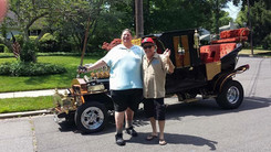 TJ, Butch Patrick(Eddie from The Munsters) and the Munster Mobile!