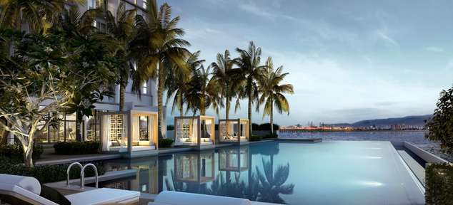 Resort-style Facilities Overlooking the Panoramic Vistas of the Penang Bridge