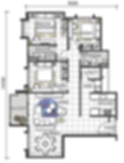 Unit Layout / Floor Plan of GEM Residences (SOHO) @ Prai, Penang