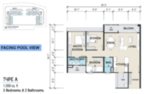 Unit Layout / Floor Plan of Imperial Grande @ Sungai Ara, Penang