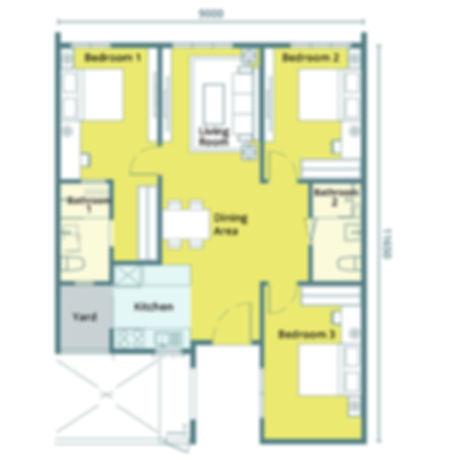 Unit Layout / Floor Plan of Montage @ Sungai Nibong, Penang