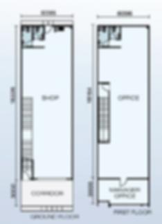 Shoplot unit layout flor plan