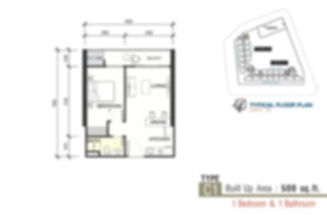 Unit Layout / Floor Plan of Sunsuri Residences @ Bayan Lepas, Penang