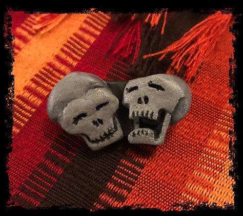 Laughing Skulls Logo Pin