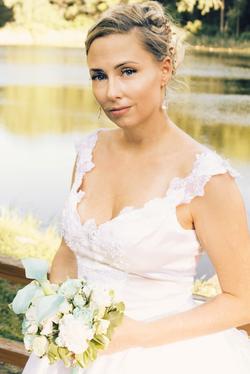 Bride By Lake