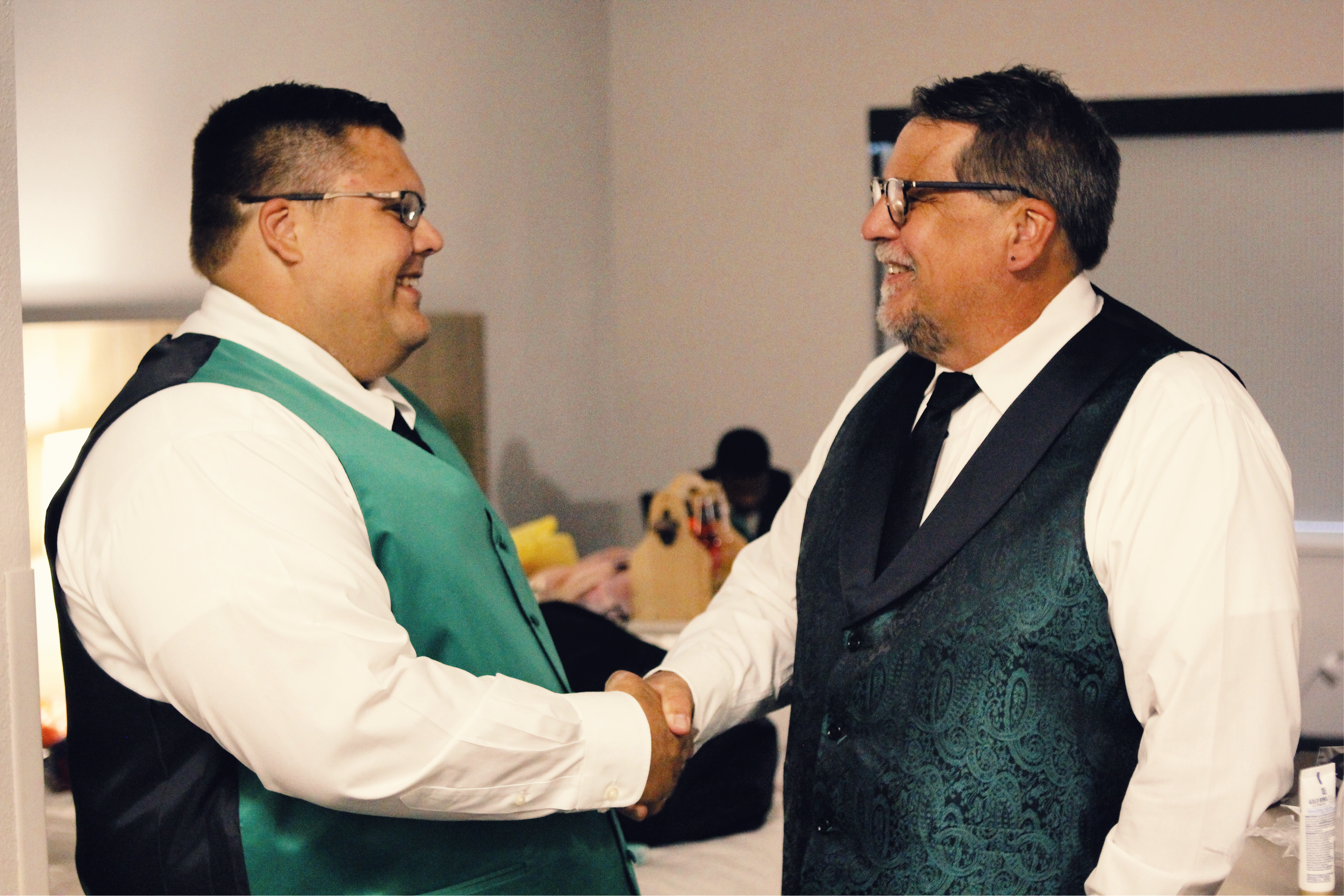 Groom Father Handshake
