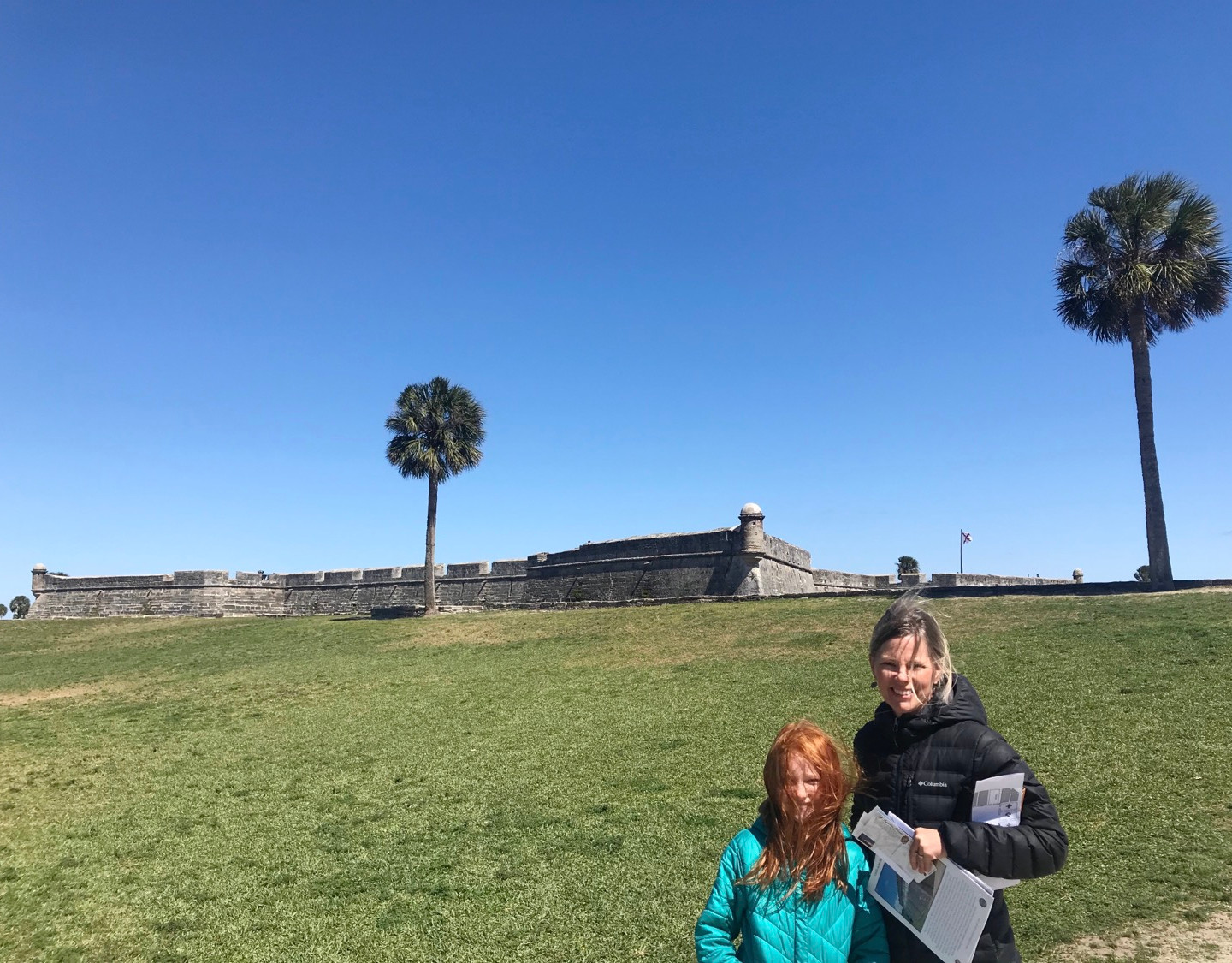 Day trip to St. Augustine. No it wasn't a bad hair day, it was super windy.