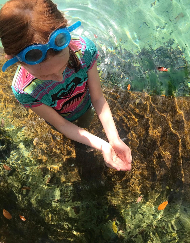 Lila caught a fish at Juniper Springs