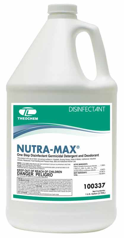Nutra-Max, one-step disinfectant, germicidal detergent and deoderant