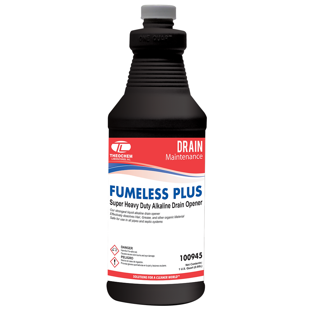 Fumeless Plus, Super Heavy Duty Alkaline Drain Opener
