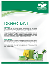 Disinfectant Brochure