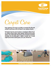 Carpet Care Brochure