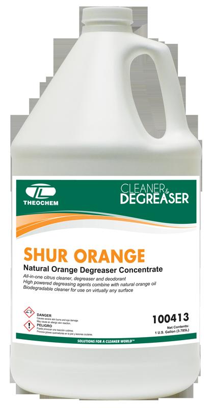 Shur Orange, Cleaner, Degreaser