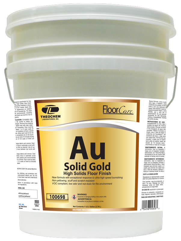 Solid Gold, High Solids Floor Finish