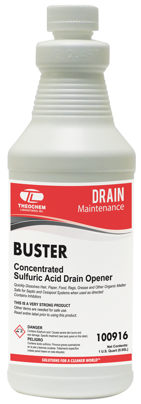 Buster, concentrated sulfuric acid drain opener