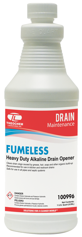 Fumeless, Heavy Duty Alkaline Drain Opener, drain maintenance