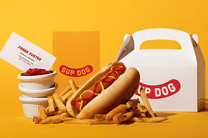 Classic Yellow and Red Are Combined for Modern Eatery Sup Dog's Branding